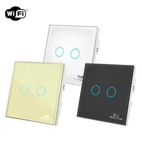 کلید دو پل هوشمند لمسی MCO Home پروتکل WiFi