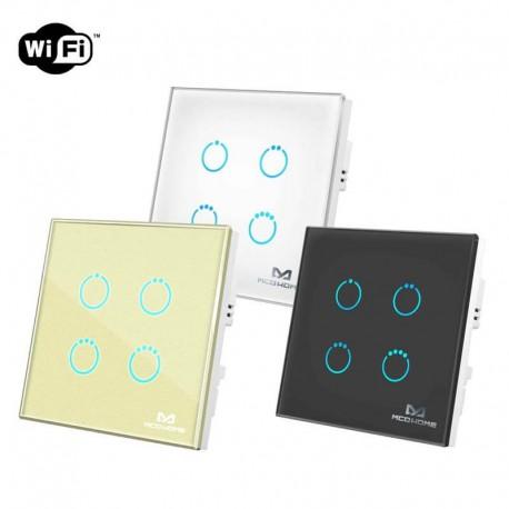 کلید چهارپل هوشمند لمسی MCO HOME پروتکل WiFi